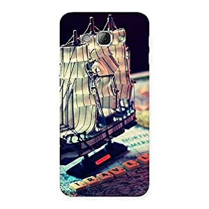 Travel ship Multicolor Back Case Cover for Galaxy A8
