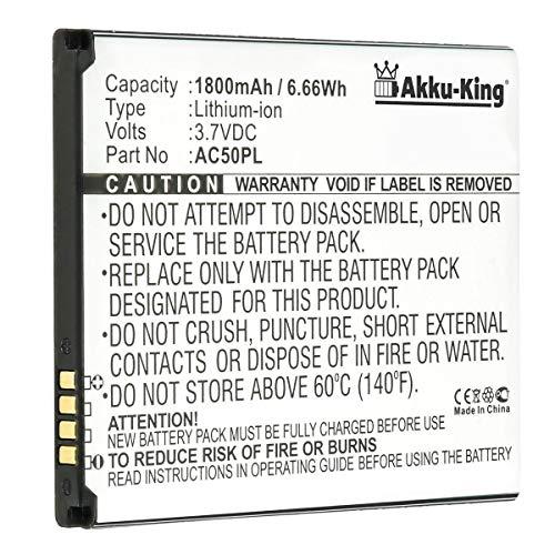 Akku-King Batterie remplace Archos AC50PL - Li-ION 1800mAh - pour Archos 50, 50 Helium 4G, 50 Platinum