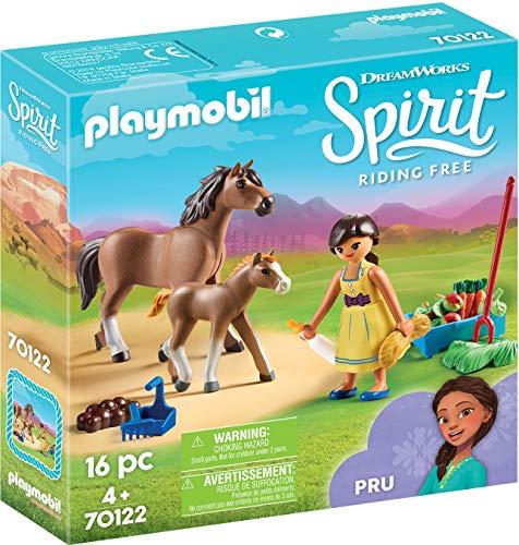 Playmobil- PRU con Caballo y Potro Juguete