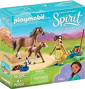 PLAYMOBIL- PRU con Caballo y Potro Juguete, Multicolor (geobra Brandstätter 70122)