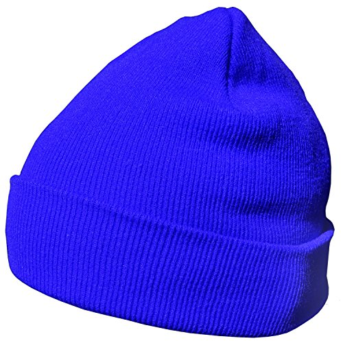 DonDon Wintermütze Mütze warm klassisches Design modern und weich blau (Stirnband Klassisches)