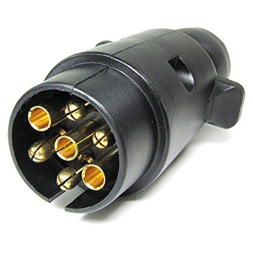 Carparts-Online 27542 Auto Anhänger Adapter Stecker 7 polig ISO 1724 für 12v schwarz