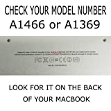 Coque matte pour Macbook Air 13 ' ( Modèle A1466 / A1369 ) - Noir (Avec un Europe...