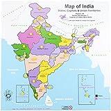Skillofun Wooden Map of India, Multi Color