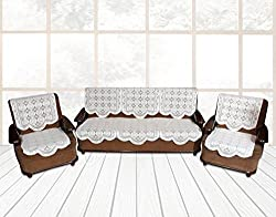 Yellow Weaves 6 Piece Sofa and Chair Cover Set (White)