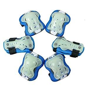 FOKOM Child Fluorescence Sport Safety Protector Luminous Protective Gear Set