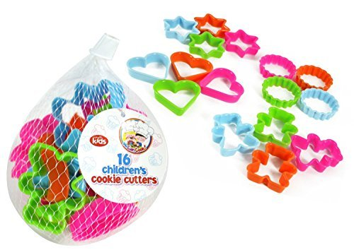 """We can cook"" range of children's cookware - 16 assorted cookie cutters"