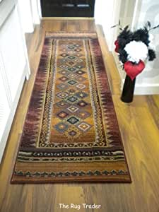 Gabbeh Hall Runner. 107 R Multi-Coloured. 68cm x 235cm.