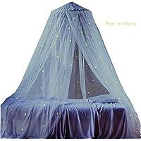 Ledyoung - Mosquitera contra mosquitos para bebés, con estrellas luminosas para la cama de los más pequeños, en color blanco.