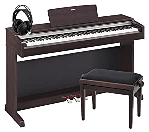 yamaha ydp 142 r arius digitalpiano rosenholz set inkl bank kopfh rer. Black Bedroom Furniture Sets. Home Design Ideas