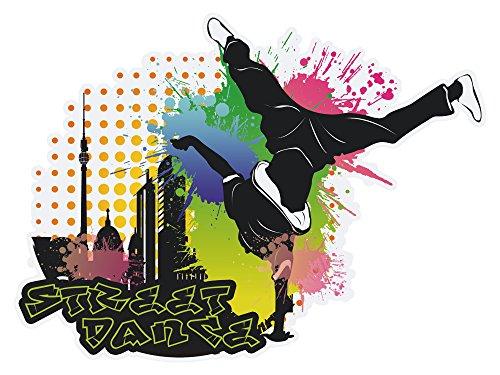 GRAZDesign Tapetensticker Tanzen, Walltattoo Hip Hop Deko, Wandtattoo Coole Aufkleber für Jugendliche / 67x50cm