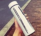 HZJ Outdoor Minimalista Serie Ragazzi E Ragazze Paio Bollitore, capacità 500ml Boccetta di Vuoto Doppia Bottiglia in Acciaio Inox, Portatile Impermeabile Tazza d'Acqua, Stripe, B