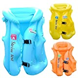 Kwikbuy 1 Pc Inflatable Colorful Life Vest and Jacket for Kids (Assorted Color)