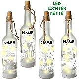 alles-meine.de GmbH 1 Stück _ LICHT Dekoflasche - 10 Stück LED -  Motiv - Mix  - Flasche mit Licht - Batterie betrieben - Dekolicht - Weihnachten / Sommer & Winter - Dekoration.. - 3