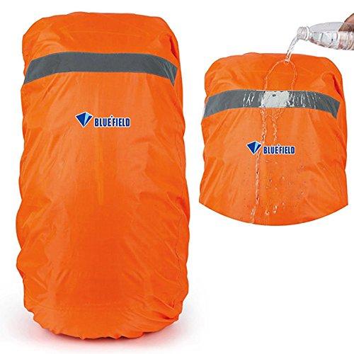 EgBert Travel Waterproof Backpack Rain Cover Mit Reflektiertem Streifenwanderwerkzeug - Orange - M Digital Backpack Kit