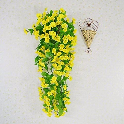 Meili flower fiore di emulazione per le piante in vaso niou hua fiore muro rattan soffitto, terrazza sul tetto cesto fiori soggiorno.