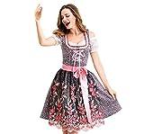 Geilisungren Mujer Vestido de Mucama Señoras Vestido Vestidos Típicos Set Grande Oktoberfest Ropa Traje Midi Vestidos Disfraces para Mujer Halloween Cosplay Traje De Mucama