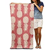 Gorgeous practical goods Red Pineapple Women's Men's Personalized Highly Absorbent Bath Towel Soft 31.5