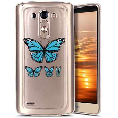 Coque Housse pour LG G3, LG G3 Coque Silicone Étui Ultra Mince Housse,LG G3 Souple Coque Etui en Silicone, LG G3 Silicone Case Soft TPU Cover, Ukayfe Etui de Protection Cas en caoutchouc en Ultra Slim Souple Cristal Transparent Clair Gel TPU Bumper Cas Case Cover Coque Couverture Etui pour LG G3 + 1 X Stylet