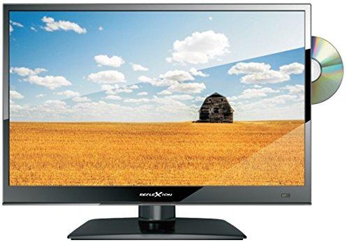Reflexion LDD1671 39 cm (15,6 Zoll) LED-Fernseher mit DVD-Player, Triple-Tuner und 12 Volt Kfz-Adapter (HD Ready, HDMI, DVB-S / S2 / C / T, USB, EPG, CI+, DVB-T Antenne), schwarz
