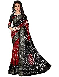 IndoPrimo Women's Cotton Silk Printed Party Wear Saree With Blouse Piece (Free Size, Multi Colour)