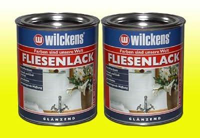 2 DOSEN FLIESENLACK GLÄNZEND Fliesenfarbe WEIß 2 x 750ml von Wilckens auf TapetenShop