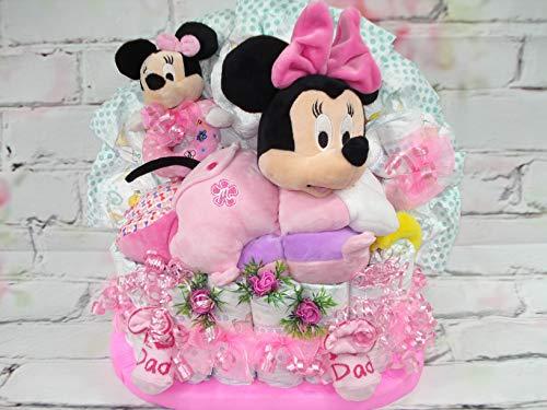 """Windeltorte""""Große Disney Minnie Maus Spieluhr""""Babyparty,Geburt,Taufe"""