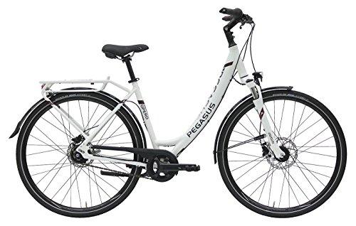 Damen City Fahrrad 28 Zoll - Pegasus Opero SL - 8 Gänge, Rücktritt, Nabenschaltung - weiß