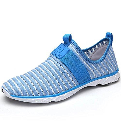 Men's Mesh Breathable Zapatillas Deportivas Hombre Running Shoes men women lightblue