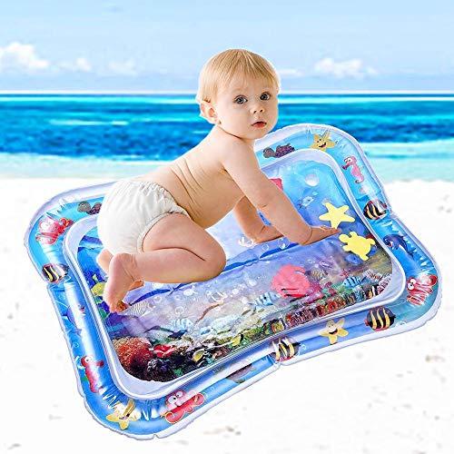 Arlando Wassermatte Baby, aufblasbar Wasser Spielmatte 66X50cm BPA-frei Wasserkissen Wasserfüllung Wasserpark für Baby Kleinkinder Säuglinge Neugeborene 3 6 9 Monate