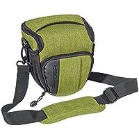 "'Pedea SLR ""Fashion Funda para Cámara Sony SLT-A58K, SLT-A58Y/Canon EOS 80d, 1100d/Nikon Coolpix P900/Panasonic Lumix DMC-FZ1000(tamaño m), color verde con protector de pantalla"