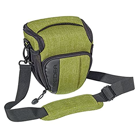 """PEDEA """"Fashion"""" SLR-Kameratasche mit Schultergurt und Zubehörfächer, Gr. M grün"""