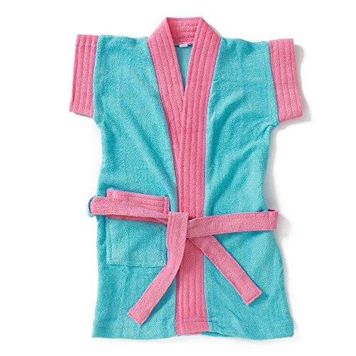 Pebbles Soft Baby Bathrobe -Blue & Pink