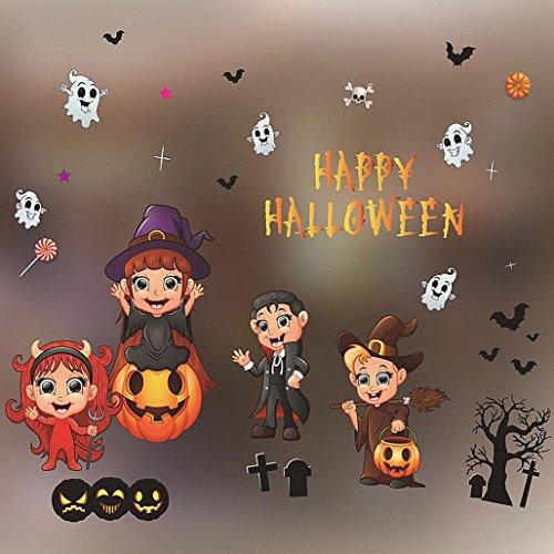 Wawer Halloween Dekorationen Einkaufszentrum Bar KTV statische Fenster Glaspaste (Farbe (Mechanische Halloween Requisiten)