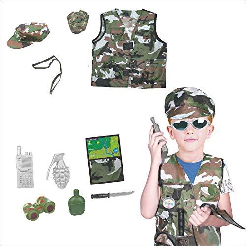 YAHAMA Militär Kostüm Kinder Soldaten Kostüm für Kinder Zubehör (Militär Kostüm Kinder Für)