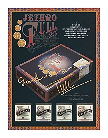 Jethro Tull Autographed Signed A4 21cm x 29.7cm Poster Photo