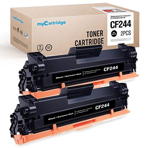 Mycartridge - Cartucho de tóner Compatible con HP 44A CF244A para Impresora HP Laserjet Pro M15a M15w M17a M17w MFP M28a MFP M28w MFP M30a MFP M30w, Color Negro, Color 2*Schwarz