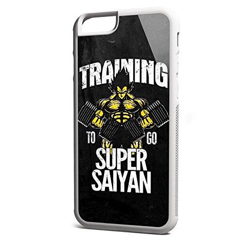 Smartcover Case Training to go Super Saiyan vintage z.B. für Iphone 5 / 5S, Iphone 6 / 6S, Samsung S6 und S6 EDGE mit griffigem Gummirand und coolem Print, Smartphone Hülle:Iphone 6 / 6S schwarz Iphone 6 / 6S weiss
