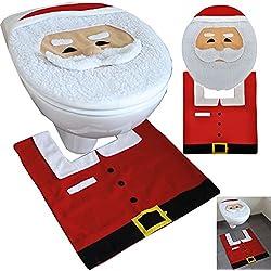 JEMIDI Weihnachts Toiletten WC Dekorations Set 2-teilg Nikolaus Deko (Weihnachten)