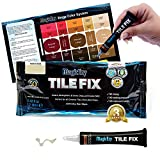 MagicEzy Tile Fix - Fills and Colours Fessure e schegge di piastrelle in pochi secondi: Filler per piastrelle lucide (Honey-Beige)
