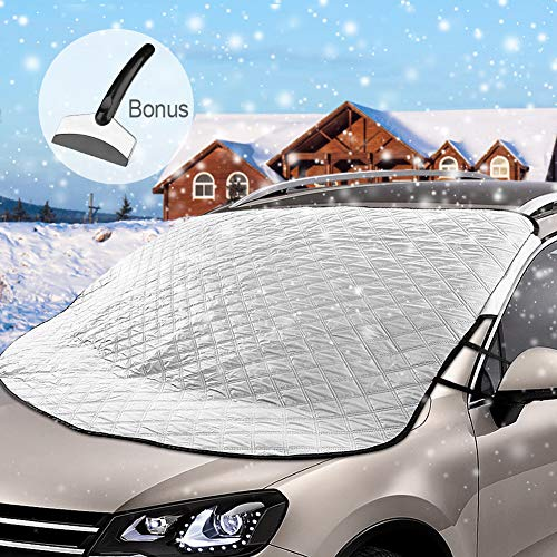 DIZA100 Frontscheibenabdeckung Auto Scheibenabdeckung Windschutzscheibe Abdeckung Magnet Fixierung Faltbare Abnehmbare Auto Abdeckung für die Windschutzscheibe gegen Schnee, EIS, Frost, Staub, Sonne