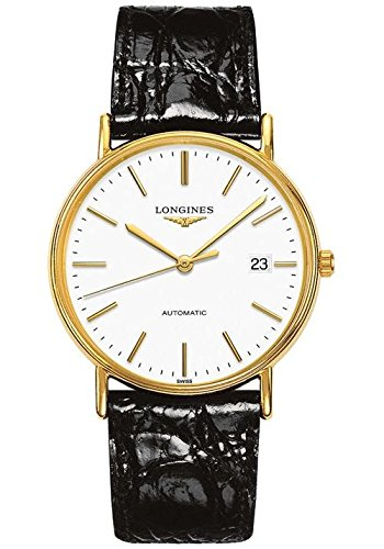 Longines Reloj Analógico para Hombre de Automático con Correa en Cuero L49212122