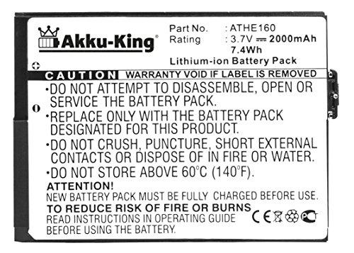 Akku-King Akku für HTC Advantage, X7500, T-Mobile Ameo, O2 XDA Flint Dopod U1000 - ersetzt BA S170 ATHE160, 35H00081-00M - Li-Ion 2000mAh