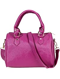 Zibuyu Hot Women Handbag Shoulder Bag Messenger Tote Purse PU Leather(purple)