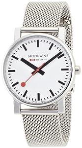Reloj de caballero Mondaine de cuarzo, correa de acero inoxidable color plata de Mondaine