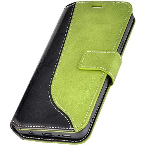 elephones® Handyhülle für Samsung Galaxy S8 Hülle - Kompatibel mit Galaxy S8 Schutzhülle Handy-Tasche Flip Case Cover Grün Galaxy Grün