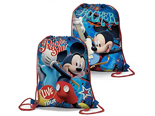 Mickey Mouse - Rockstar - Trendiger Sportbeutel, beidseitig Bedruckt