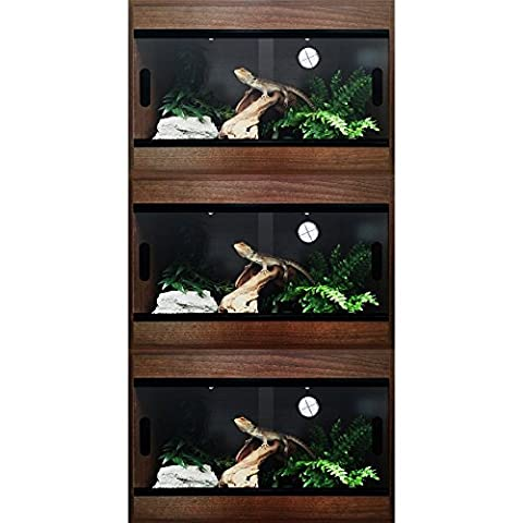 Pro Reptile Terapod Vivarium Stack of 3 (36 inch / 3 foot, Walnut)