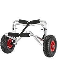 Docooler Chariot de Kayak de 75KG Capacité de Chargement Pliable Panier à Deux Roues à Economie d'Energie pour Kayak