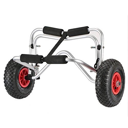 Docooler Faltbarer Kajakwagen/Bootsanhänger mit Befestigungsband und Gepolsterter Auflagefläche, Max Belastung 75 kg